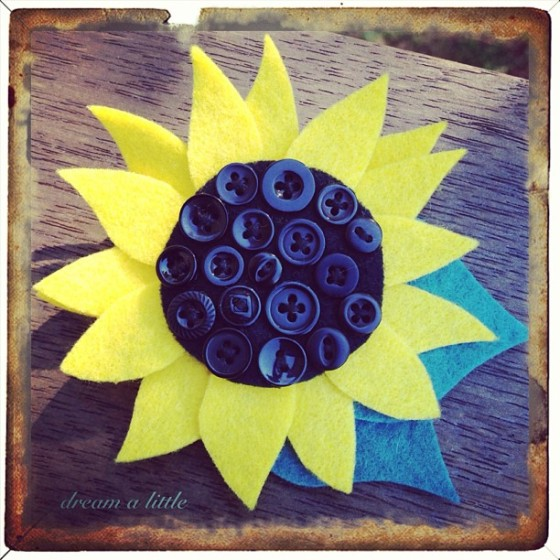 Sunflower buttonhole.