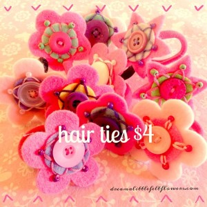 Flower hair ties.